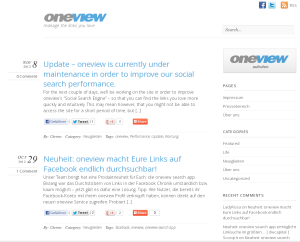 oneview maintenance8112012