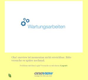 oneview wartungsarbeiten