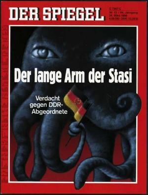 Der lange Arm der Stasi Verdacht gegen DDR-Abgeordnete Von Dieter Wiesmüller DER SPIEGEL 13/1990 Alle Rechte vorbehalten Vervielfältigung nur mit Genehmigung der SPIEGEL-Verlag Rudolf Augstein GmbH & Co. KG.